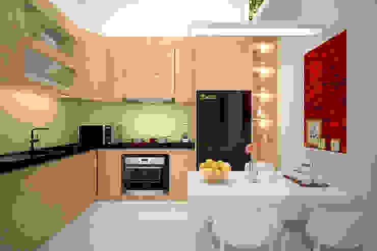 Bếp và phòng ăn: hiện đại  by Công ty TNHH Thiết kế và Ứng dụng QBEST, Hiện đại