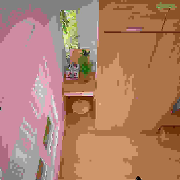 Phòng ngủ: hiện đại  by Công ty TNHH Thiết kế và Ứng dụng QBEST, Hiện đại