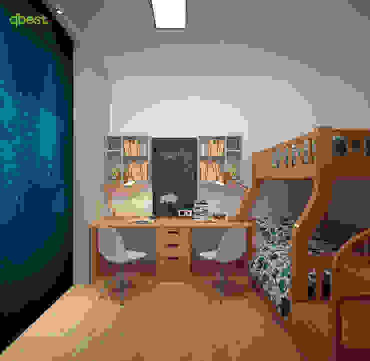 Phòng ngủ trẻ em: hiện đại  by Công ty TNHH Thiết kế và Ứng dụng QBEST, Hiện đại