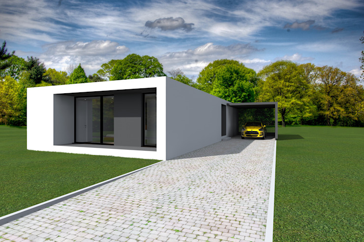 Projeto Ametista Casas modernas por Magnific Home Lda Moderno