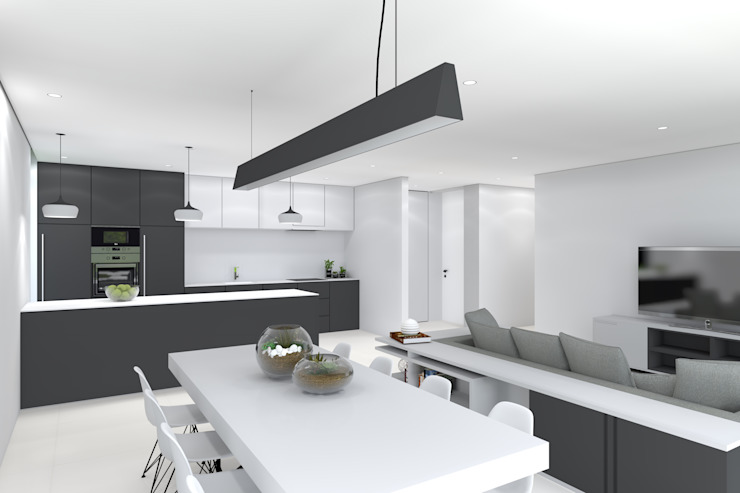 Projeto Ametista Magnific Home Lda Salas de jantar modernas