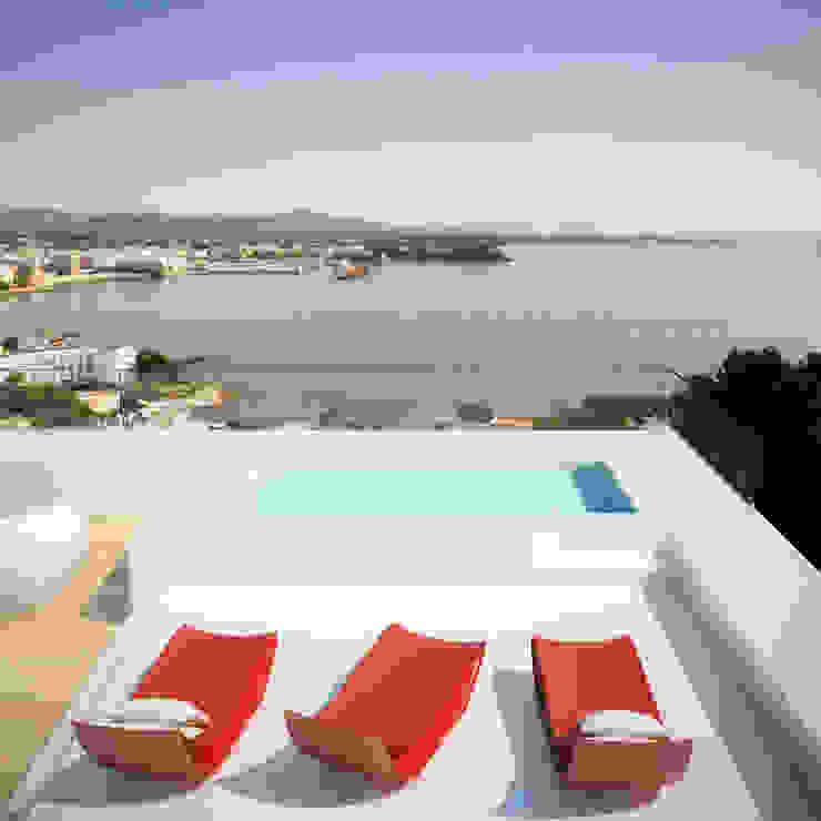 Siesta Twin House Zucchero Architects Piscinas de estilo minimalista