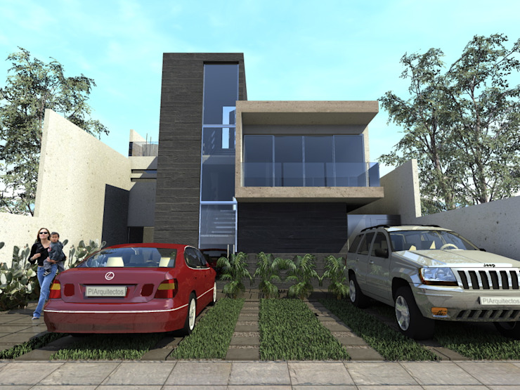 現代房屋設計點子、靈感 & 圖片 根據 Protocolo Ingeniería & Arquitectura 現代風