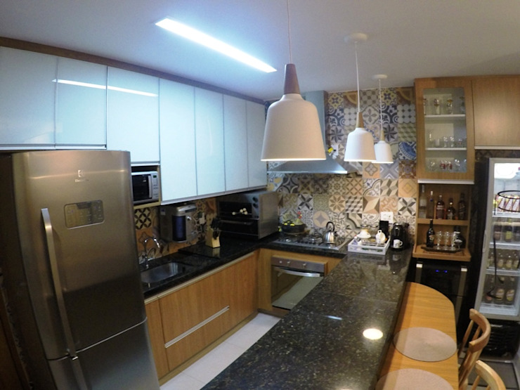 Nhà bếp phong cách mộc mạc bởi Novark Arquitetura e Design Mộc mạc
