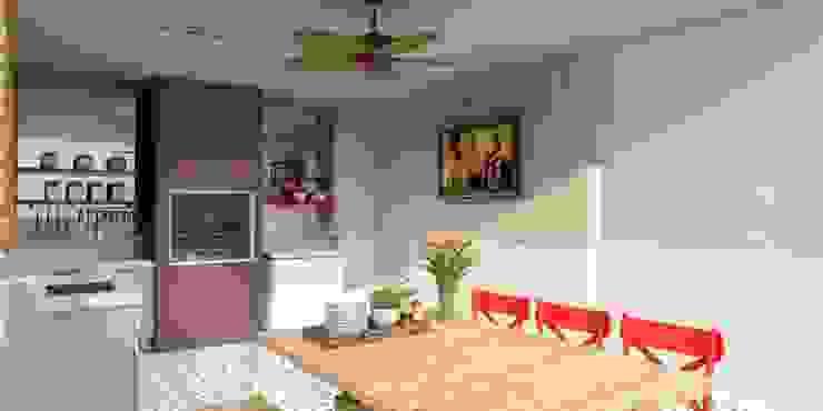 Balkon, Beranda & Teras Gaya Eklektik Oleh Nume Design de Ambientes Eklektik