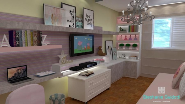 Eclectic style nursery/kids room by Stephanie Guidotti Arquitetura e Interiores Eclectic MDF