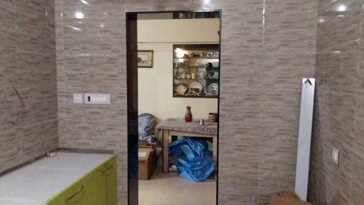 MODULAR KITCHEN Minimalist kitchen by Akanksha Designs Minimalist Ceramic