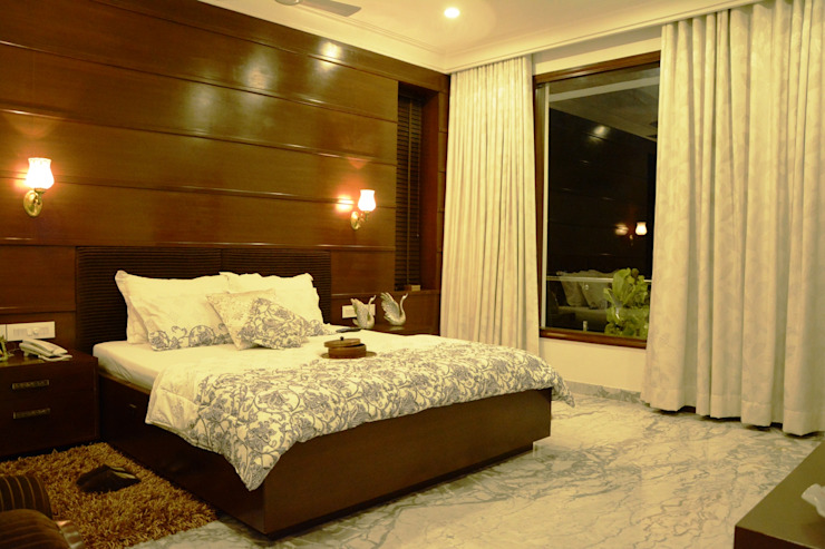 Bedroom VB Design Studio Modern style bedroom Wood effect