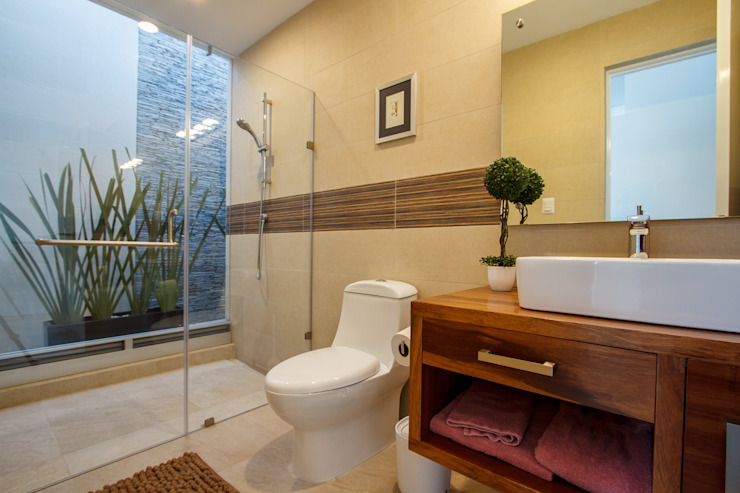 CASA ALEGRA: Baños de estilo  por SANTIAGO PARDO ARQUITECTO, Moderno