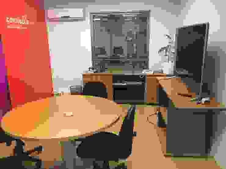 Remodelación Oficinas Connectis Santiago de Super A Studio Moderno Madera Acabado en madera