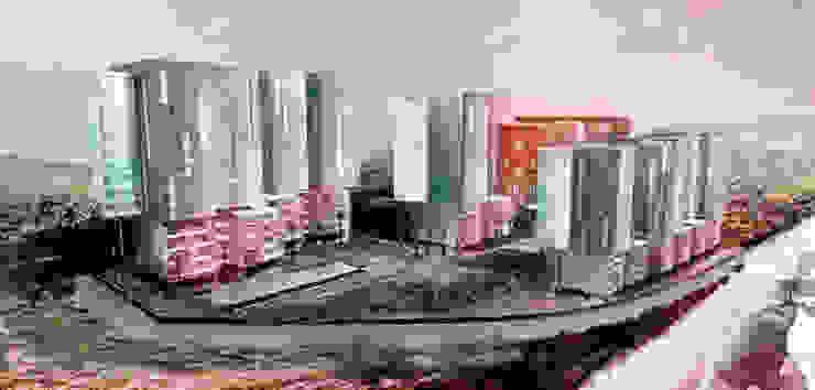 Vista General Conjunto Comercial y habitacional Mocambo TaAG Arquitectura Oficinas y tiendas