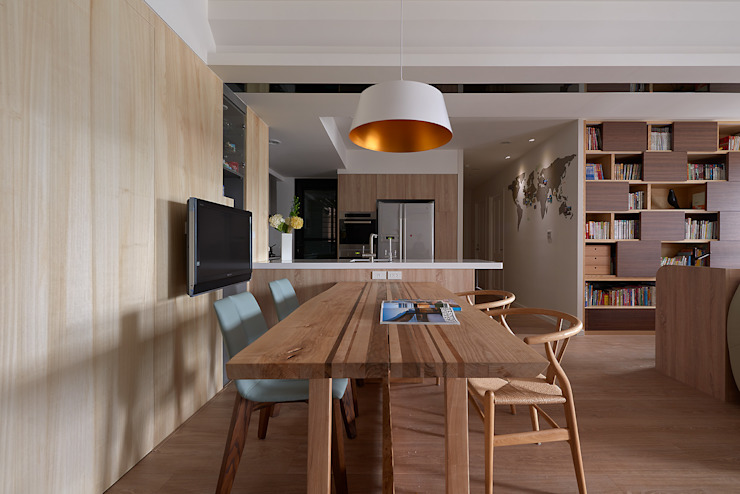 Scandinavian style dining room by 耀昀創意設計有限公司/Alfonso Ideas Scandinavian