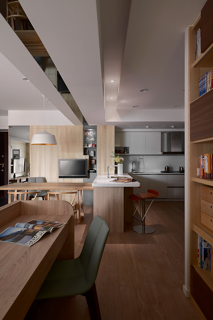 Scandinavian style study/office by 耀昀創意設計有限公司/Alfonso Ideas Scandinavian