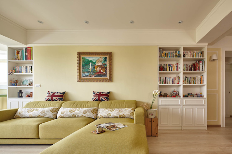 Country style living room by 耀昀創意設計有限公司/Alfonso Ideas Country