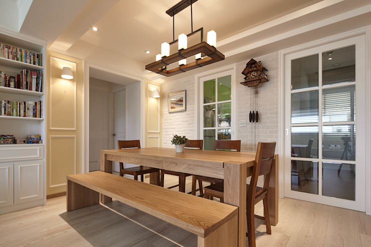 Country style dining room by 耀昀創意設計有限公司/Alfonso Ideas Country
