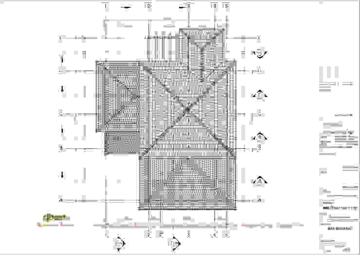 Mặt bằng mái bởi Công ty TNHH Thiết kế và Ứng dụng QBEST Nhiệt đới