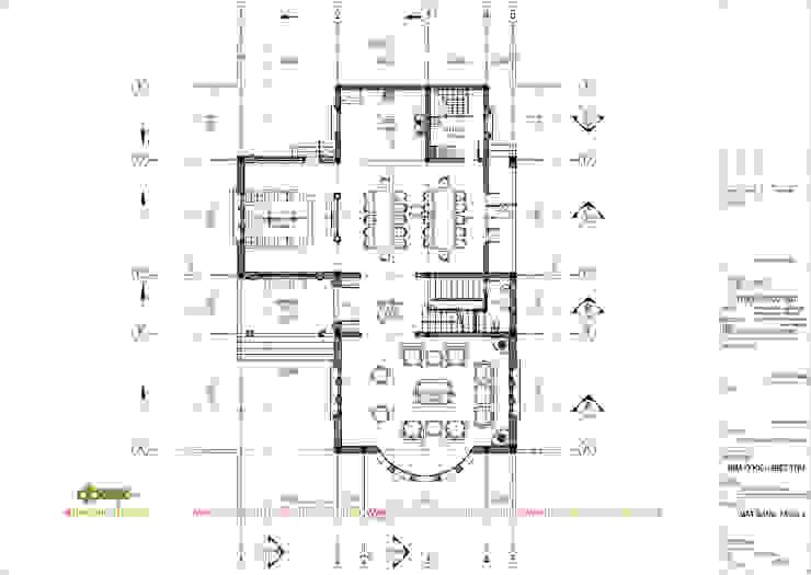 Mặt bằng tầng 1 bởi Công ty TNHH Thiết kế và Ứng dụng QBEST Nhiệt đới