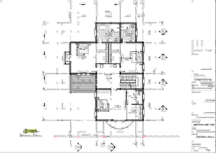 Mặt bằng tầng 2 bởi Công ty TNHH Thiết kế và Ứng dụng QBEST Nhiệt đới