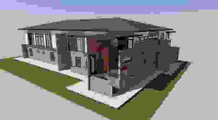 บ้านปูนเปลือย โดย รับเขียนแบบบ้าน&ออกแบบบ้าน โมเดิร์น