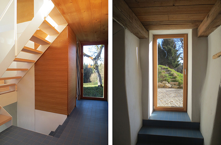 Modern corridor, hallway & stairs by illichmann-architecture Modern