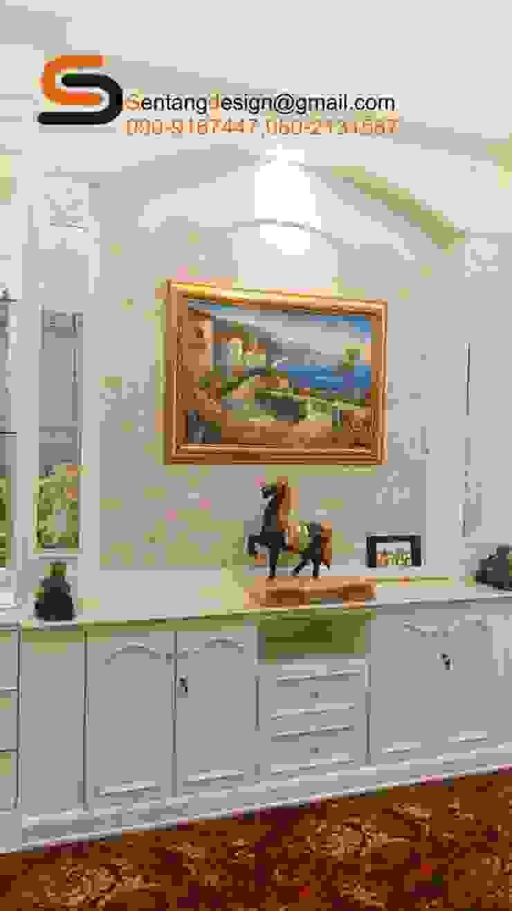 ห้องรับแขกบ้านคุณพูนศัก นครปฐม เริ่มตั้งแต่ออกแบบจนกระทั้งรับเหมาตกแต่งจนเสร็จ โดย เอสทีดี เดคคอร์ จำกัด