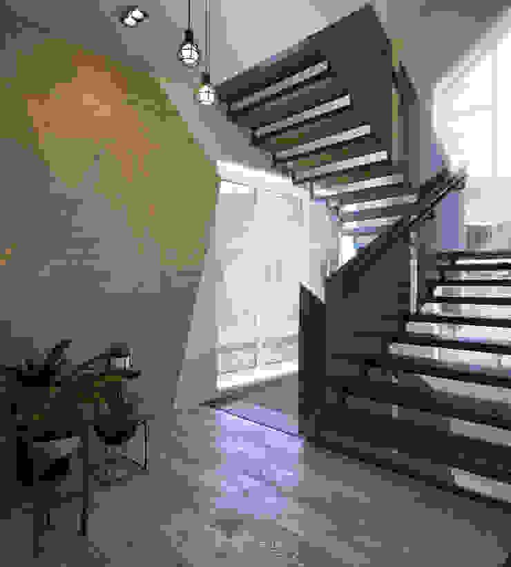 ДизайнМастер Eclectic style corridor, hallway & stairs Beige