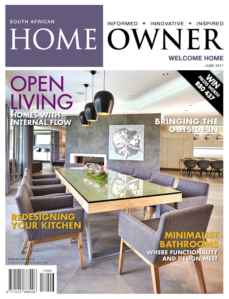 Cover SA Homeowner June 2017 Issue by Carne Interiors Classic