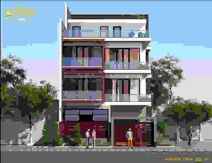 Rumah Modern Oleh Công ty Cổ phần tư vấn thiết kế xây dựng Nam Cường Modern