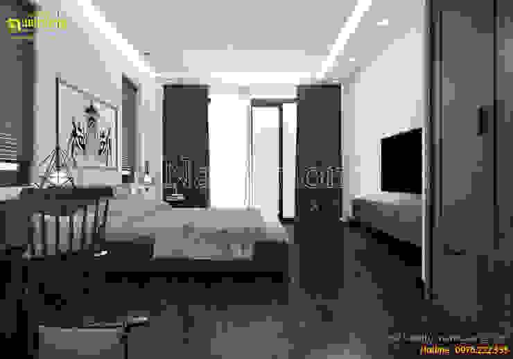 Kamar Tidur Modern Oleh Công ty Cổ phần tư vấn thiết kế xây dựng Nam Cường Modern
