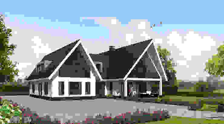 Brand I BBA Architecten Country style house White