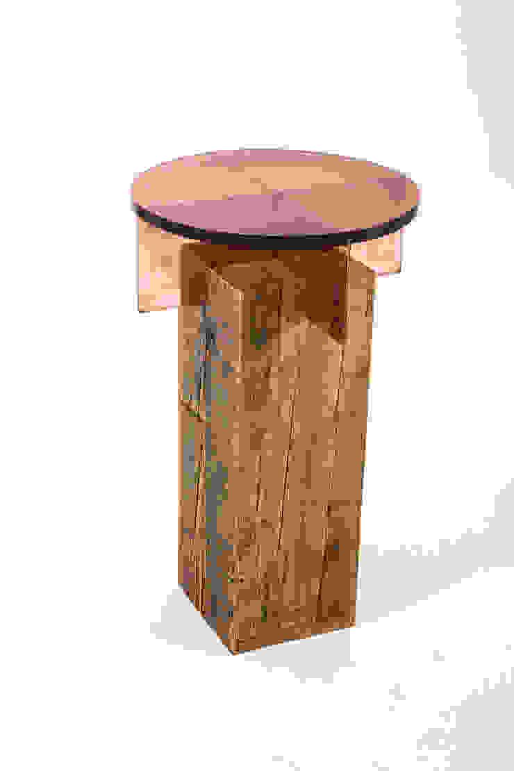Jewel side table: modern  by Egg Designs CC, Modern Wood Wood effect