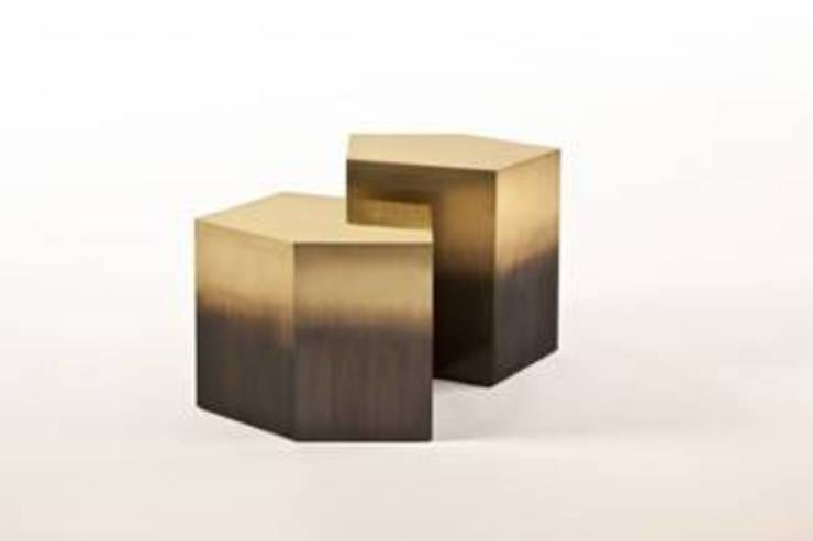 Ombre side tables : modern  by Egg Designs CC, Modern Copper/Bronze/Brass