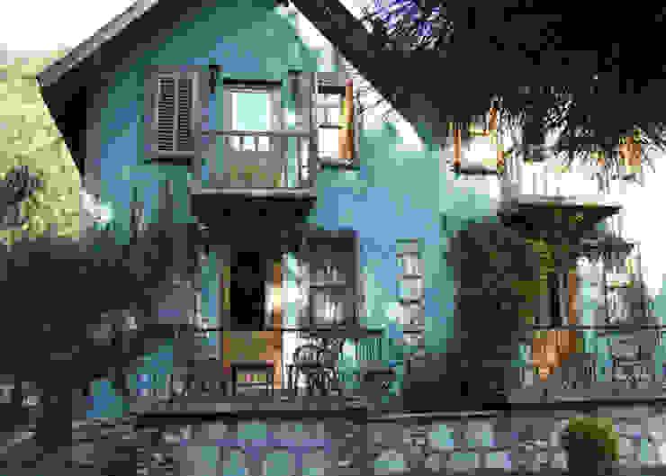 Country style house by BYAZ İnşaat Mimarlık ve Tasarım Country Stone