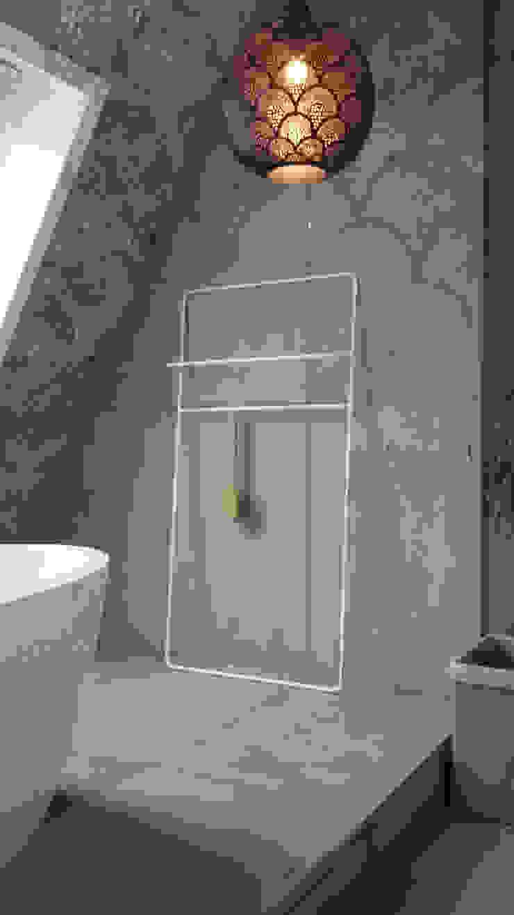 Prive badkamer op zolder/ slaapkamer Industriële badkamers van ConcreetDesign BV Industrieel Beton