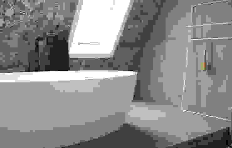 wandpanelen en vloer van beton Industriële badkamers van ConcreetDesign BV Industrieel Beton