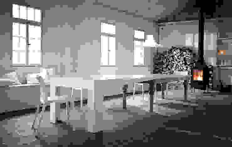 Kißkalt Designs ダイニングルームテーブル 木 白色