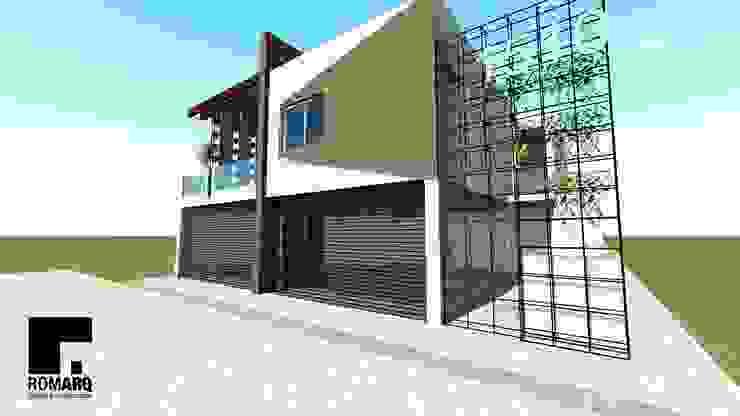 Diseño de fachada Casas de estilo moderno de Romarq. Diseño y construcción Moderno Hormigón