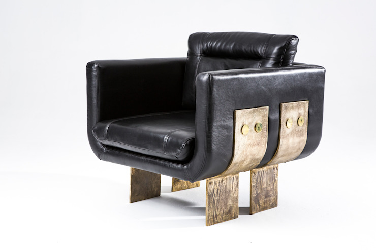 Primal armchair: modern  by Egg Designs CC, Modern Copper/Bronze/Brass