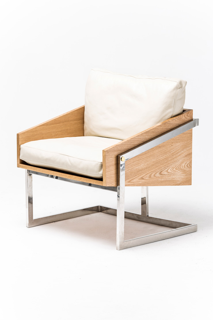 Sail occasional chair: modern  by Egg Designs CC, Modern Wood Wood effect