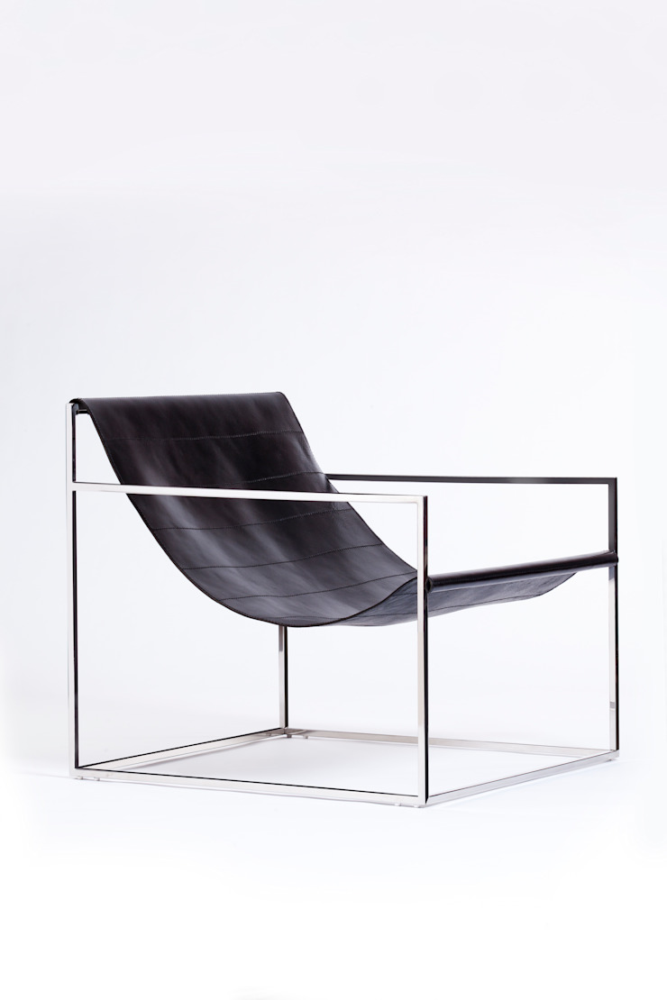 Sling chair: modern  by Egg Designs CC, Modern Leather Grey