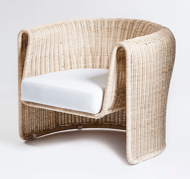 Slump chair: modern  by Egg Designs CC, Modern Rattan/Wicker Turquoise