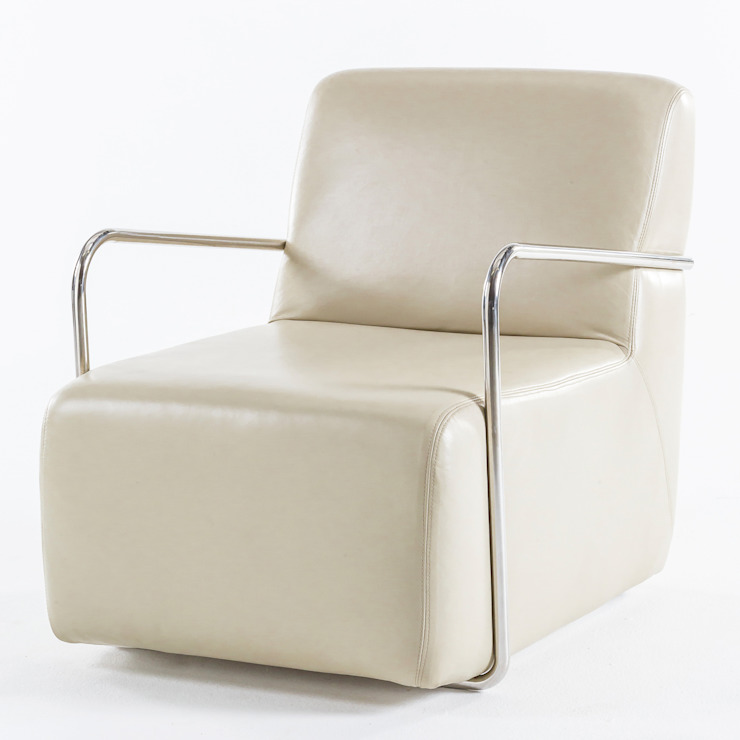 Smoking chair: modern  by Egg Designs CC, Modern Leather Grey