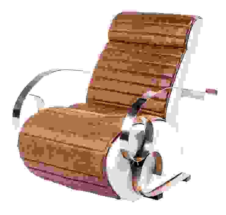 Glamour chair: modern  by Egg Designs CC, Modern Leather Grey