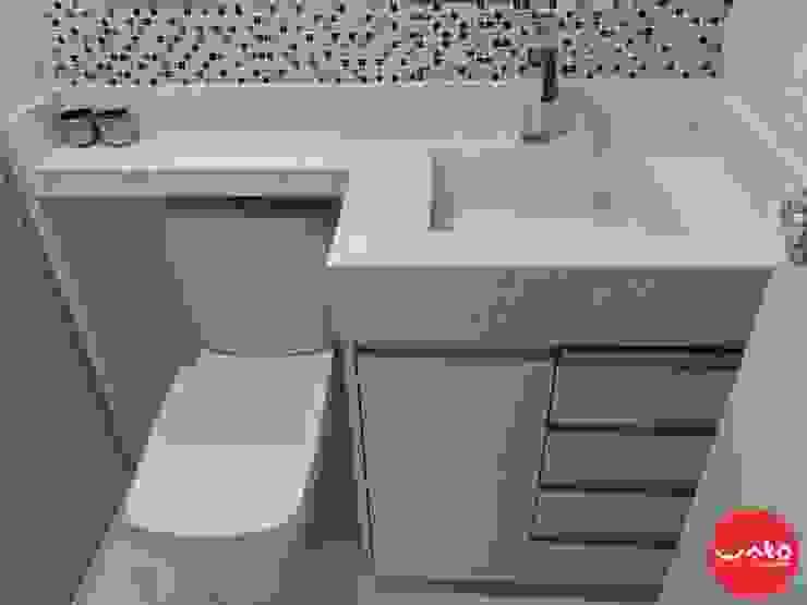 WAKO Design de Interiores Baños de estilo moderno Blanco