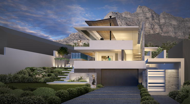 Camps Bay House 3 Modern houses by GSQUARED architects Modern Glass
