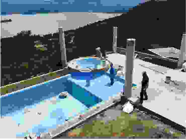 CONSTRUCCION DE ALBERCA Piscinas coloniales de Albercas Aqualim Toluca Colonial Concreto