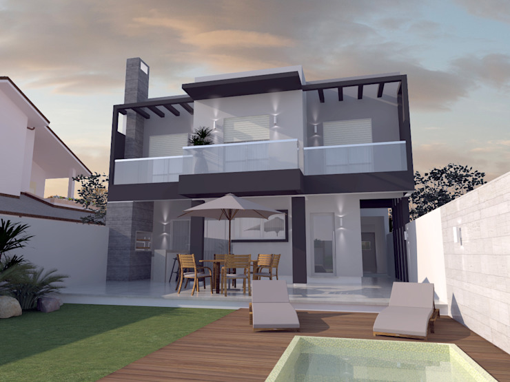 Modern houses by E+D Arquitetura Modern Bricks