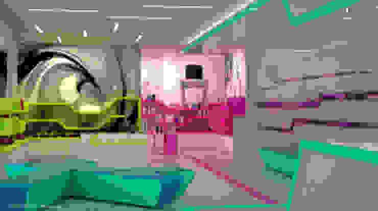 NEON Salas multimedia de estilo moderno de DISEÑOSLA Moderno