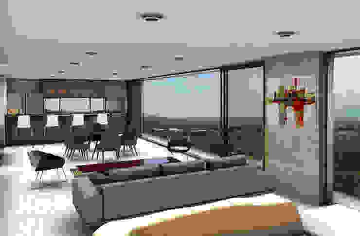 Casa Miravalle Buga Salas modernas de COLECTIVO CREATIVO Moderno