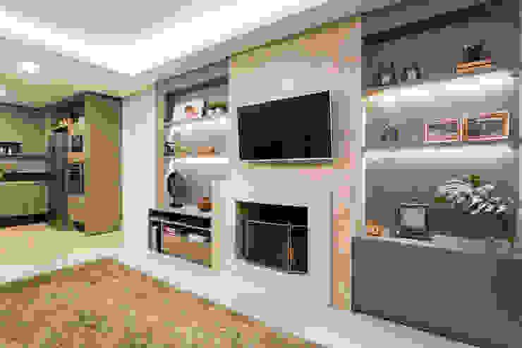 Join Arquitetura e Interiores Salones de estilo moderno